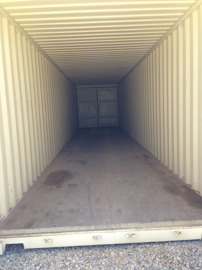 40' Double Door Rental Container